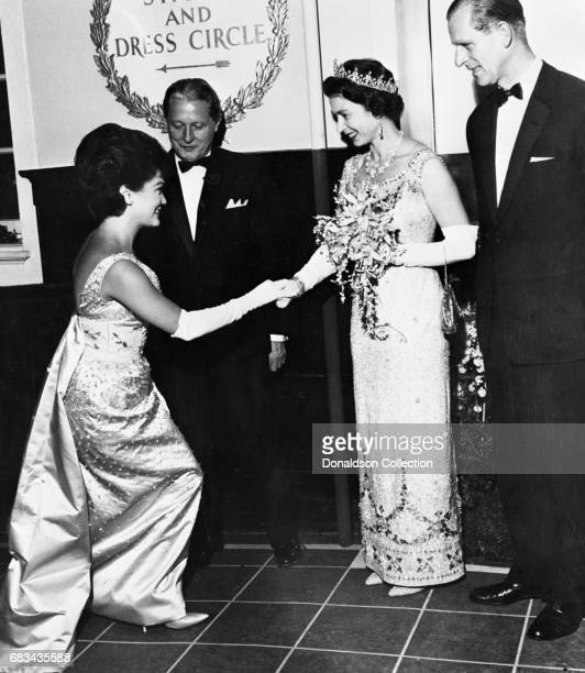 Entertainer Connie Francis meets Queen Elizabeth on January 27 1964 in New York