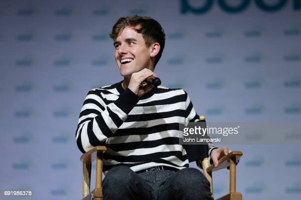 Entertainer Connor Franta speaks during the ' Connor Franta's Note To Self Journey' discussion during BookCon 2017 at Javits Center on June 3 2017 in...
