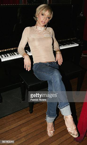 Entertainer Courtney Act attends a media call for 'Boys Like Me' at the Civic Hotel on February 8 2006 in Sydney Australia This is Courtney's...