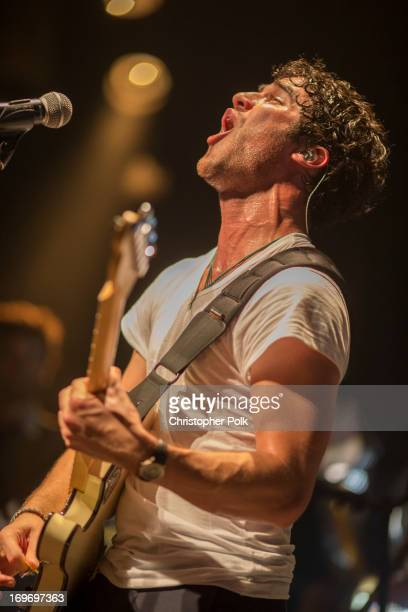Entertainer Darren Criss performs at House of Blues Sunset Strip on May 30 2013 in West Hollywood California