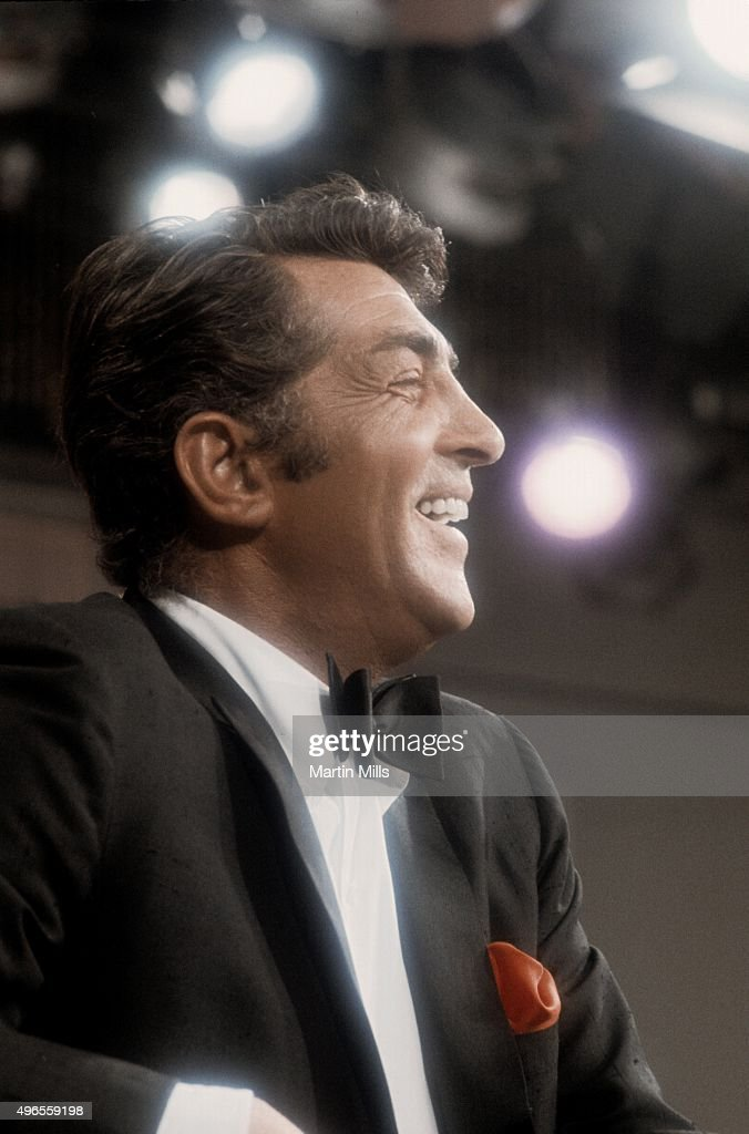 Entertainer Dean Martin on the set of 'The Dean Martin Show' in 1967 in Los Angeles, California.