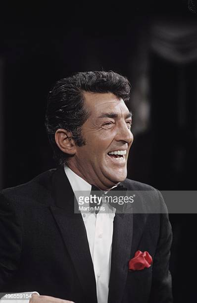 Entertainer Dean Martin on the set of 'The Dean Martin Show' in 1968 in Los Angeles California