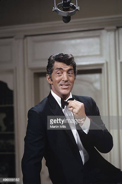 Entertainer Dean Martin on the set of 'The Dean Martin Show' in 1969 in Los Angeles California