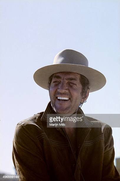 Entertainer Dean Martin poses for a portrait on the set of the 20th Century Fox film 'Bandolero' in 1967