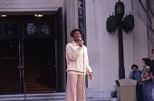 Entertainer Dionne Warwick performs on a USC Special in November 1979 in Los Angeles California