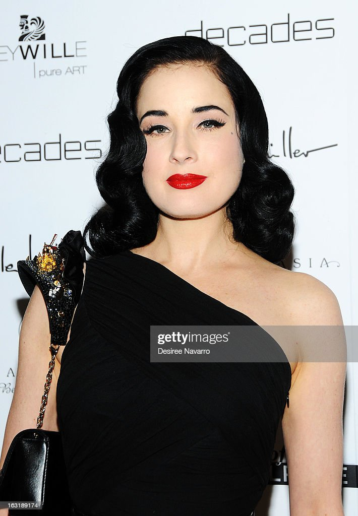Entertainer Dita Von Teese attends the 'Dukes Of Melrose' Premiere at 583 Park Avenue on March 5, 2013 in New York City.