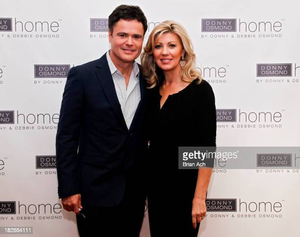 Entertainer Donny Osmond and Debbie Osmond attend the launch of Donny Osmond Home on September 23 2013 in New York City