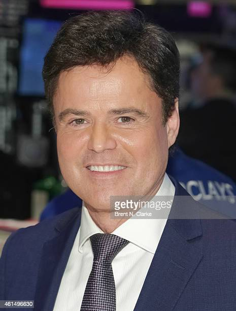 Entertainer Donny Osmond appears on the trading floor prior to ringing the NYSE closing bell to celebrate the release of his 60th album at the New...