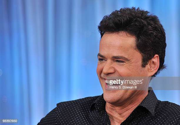 Entertainer Donny Osmond visits ABC's 'Good Morning America' at ABC Studios on November 25 2009 in New York City