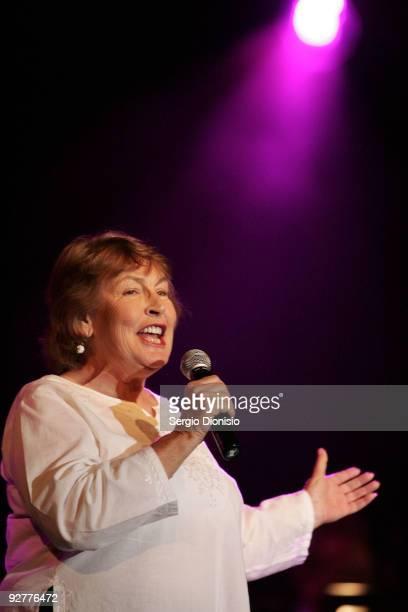 Entertainer Helen Reddy performs during the Don Lane Public Memorial Celebration on November 5 2009 in Sydney Australia