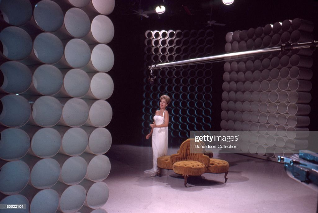Entertainer Jane Powell on the TV show 'Perry Como's Kraft Music Hall' in New York