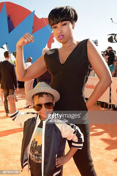 Entertainer Jennifer Hudson and David Daniel Otunga Jr attend Nickelodeon's 28th Annual Kids' Choice Awards held at The Forum on March 28 2015 in...