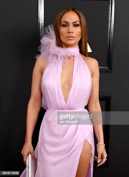 Entertainer Jennifer Lopez attends The 59th GRAMMY Awards at STAPLES Center on February 12 2017 in Los Angeles California