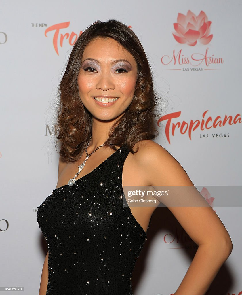 Entertainer Jenny Cheng arrives at the Miss Asian Las Vegas pageant at the New Tropicana Las Vegas on October 12, 2013 in Las Vegas, Nevada.