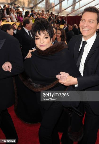 Entertainer Liza Minnelli attends 20th Annual Screen Actors Guild Awards at The Shrine Auditorium on January 18 2014 in Los Angeles California