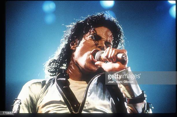 Entertainer Michael Jackson sings at a concert November 8 1988 in California Jackson who was the lead singer for the Jackson Five by age eight...
