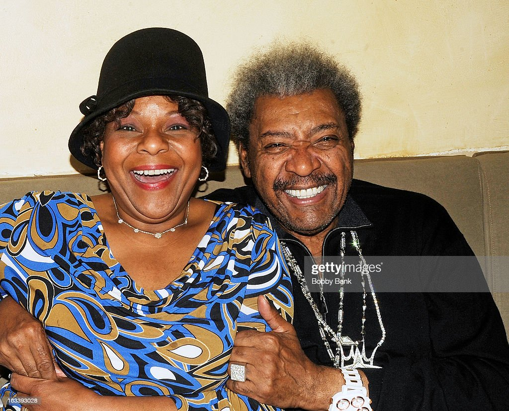 Entertainer Mother Love and boxing promoter <a gi-track='captionPersonalityLinkClicked' href=/galleries/search?phrase=Don+King&family=editorial&specificpeople=171346 ng-click='$event.stopPropagation()'>Don King</a> seen on March 8, 2013 in New York City.