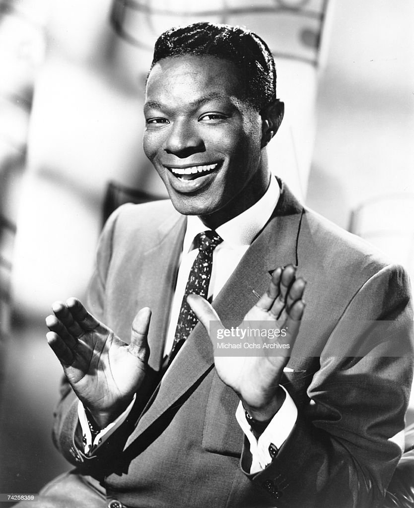 Entertainer Nat 'King' Cole poses for a portrait in circa 1950.