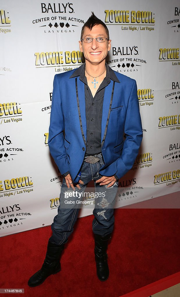 Entertainer Nolan Christopher of the show 'Tony n' Tina's Wedding' arrives at the 'Zowie Bowie Late Night' show at Bally's Las Vegas on July 25, 2013 in Las Vegas, Nevada.