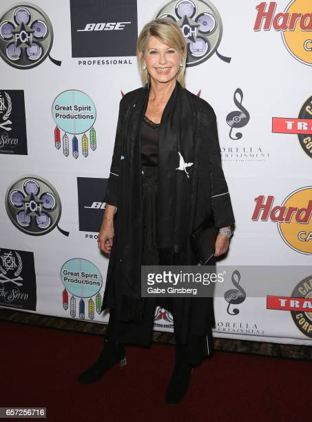 Entertainer Olivia NewtonJohn attends the inaugural Las Vegas FAME Awards presented by the Producers Choice Honors at the Hard Rock Cafe Las Vegas...
