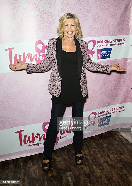 Entertainer Olivia NewtonJohn attends 'Turn Up the Pink' champagne brunch benefiting Making Strides Las Vegas to raise awareness and support for...