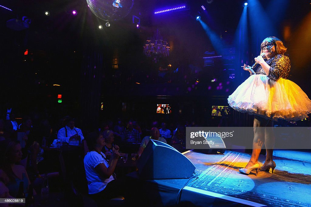 Entertainer Peter Anthony 'Chi Chi Rones' Garcia performs during 'Mondays Dark With Mark Shunock' benefiting the Miracle League of Las Vegas featuring music from movie soundtracks at the Body English nightclub inside the Hard Rock Hotel & Casino on April 21, 2014 in Las Vegas, Nevada.