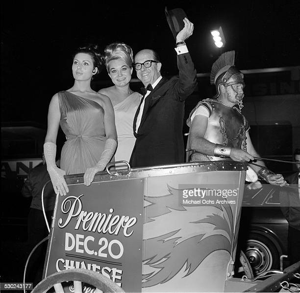 Entertainer Phil Silvers attends a movie premiere in Los AngelesCA