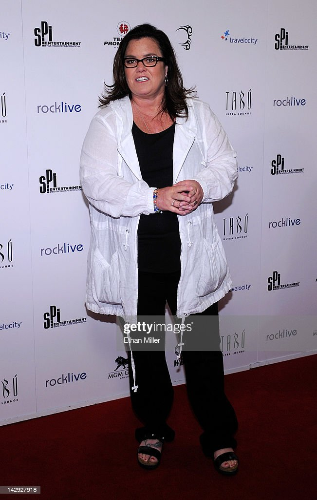Entertainer <a gi-track='captionPersonalityLinkClicked' href=/galleries/search?phrase=Rosie+O%27Donnell&family=editorial&specificpeople=201730 ng-click='$event.stopPropagation()'>Rosie O'Donnell</a> arrives at the grand opening of Mike Tyson's one-man show 'Mike Tyson: Undisputed Truth - Live on Stage' at the Hollywood Theatre at the MGM Grand Hotel/Casino April 14, 2012 in Las Vegas, Nevada.