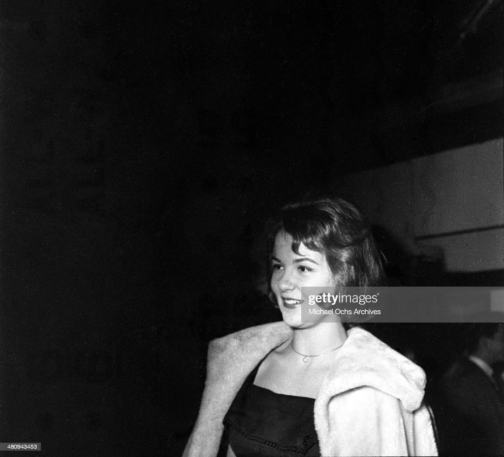 Entertainer Shelley Fabares at an event in circa 1965 in Los Angeles California