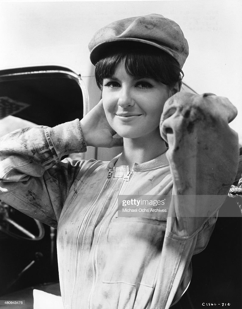 Entertainer Shelley Fabares plays a garage mechanic in the movie 'A Time To Sing' in which she plays Hank Williams Jr's love interest and was...