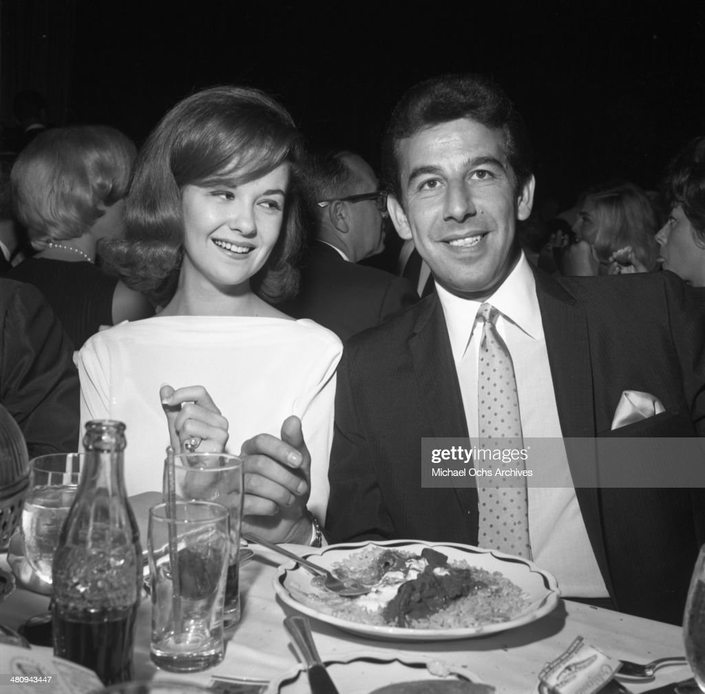 Entertainer Shelley Fabares poses for a portrait with her husband Lou Adler at an event in circa 1964 in Los Angeles California