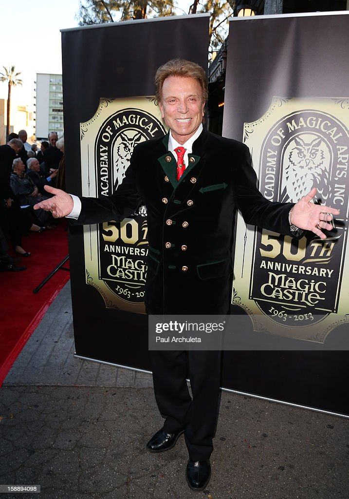 Entertainer Siegfried Fischbacher attends the Academy Of Magical Arts 50th Anniversary Gala at The Magic Castle on January 2, 2013 in Hollywood, California.