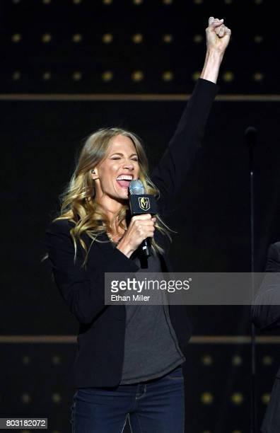 Entertainer Stephanie 'Smithy' Smith speaks during the 2017 NHL Awards at TMobile Arena on June 21 2017 in Las Vegas Nevada
