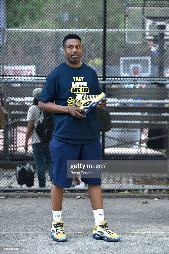 Entertainer's Basketball Classic CEO Greg Marius attends the Launch of the new Reebok Question Mid EBC & A5 with Cam'ron and Jadakiss at Rucker Park on August 4, 2016 in New York City.