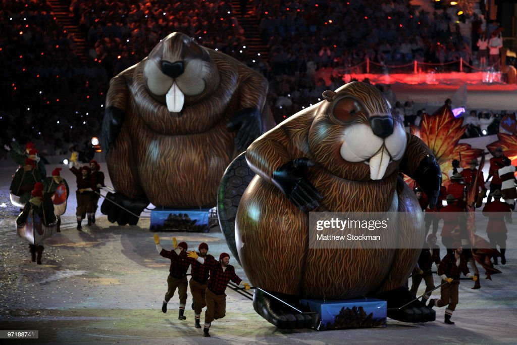 Entertainers dressed as lumberjacks perform during the Closing Ceremony of the Vancouver 2010 Winter Olympics at BC Place on February 28, 2010 in Vancouver, Canada.