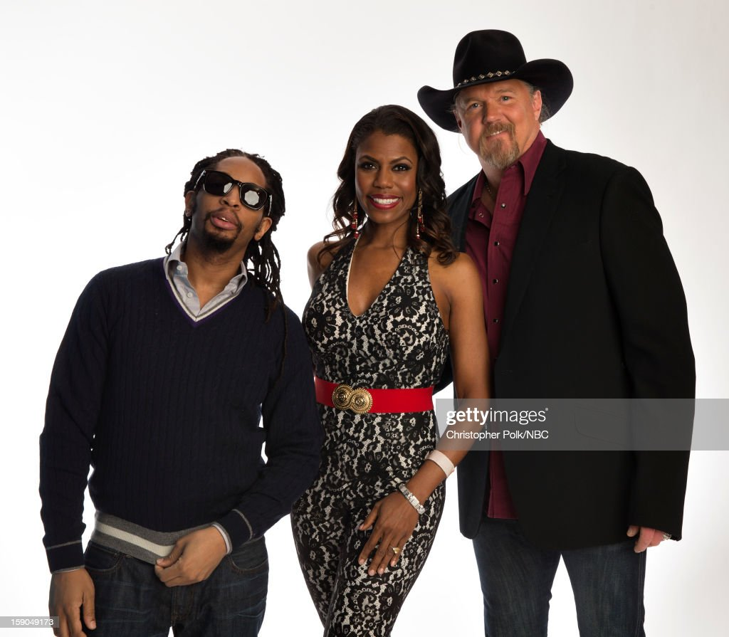 Entertainers <a gi-track='captionPersonalityLinkClicked' href=/galleries/search?phrase=Lil+Jon+-+Rapero&family=editorial&specificpeople=202659 ng-click='$event.stopPropagation()'>Lil Jon</a>, Omarosa and <a gi-track='captionPersonalityLinkClicked' href=/galleries/search?phrase=Trace+Adkins&family=editorial&specificpeople=224686 ng-click='$event.stopPropagation()'>Trace Adkins</a> attend the NBCUniversal 2013 TCA Winter Press Tour at The Langham Huntington Hotel and Spa on January 6, 2013 in Pasadena, California.