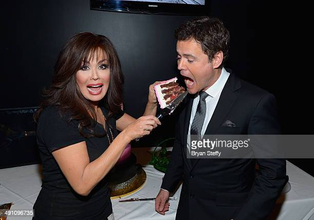 Entertainers Marie Osmond and Donny Osmond celebrate their 1000th Donny Marie variety show performance at Flamingo Las Vegas on May 15 2014 in Las...