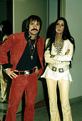 Entertainers Sonny Bono Cher attend an event in January 1973