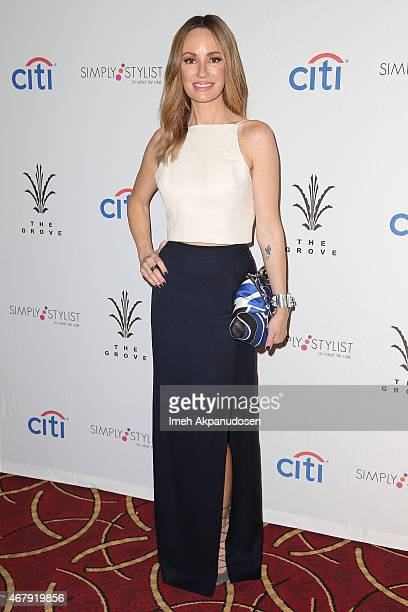 Entertainment correspondent Catt Sadler attends the Simply Stylist Los Angeles Conference at The Grove on March 28 2015 in Los Angeles California