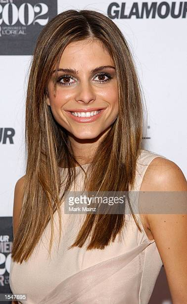 Entertainment correspondent Maria Menounos attends the 13th Annual Glamour Women of the Year Awards on October 28 2002 at the Metropolitan Museum of...