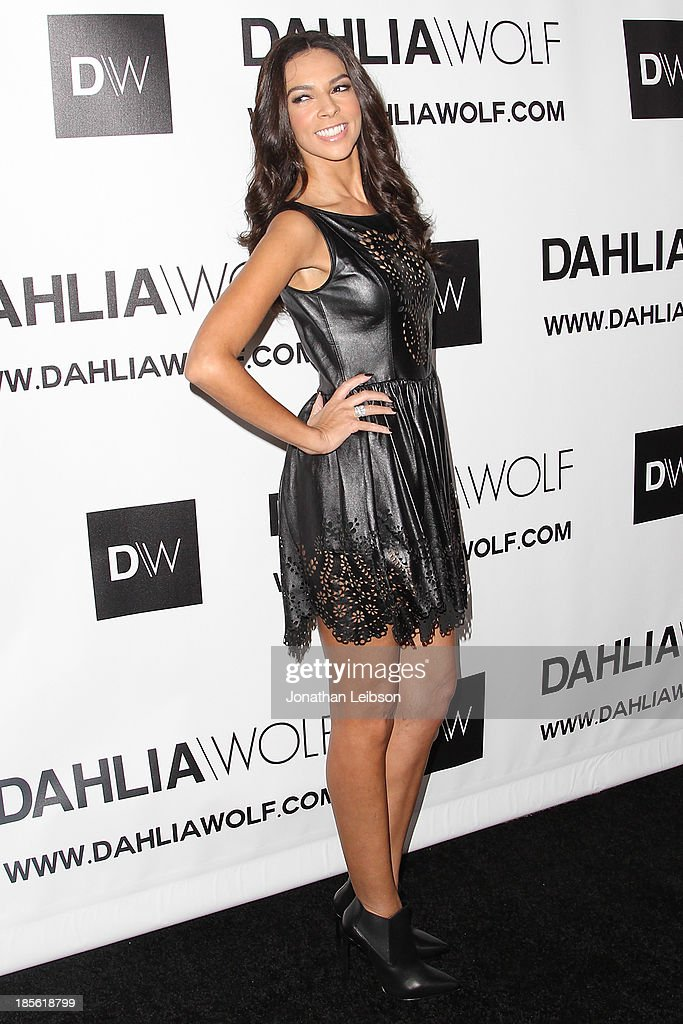 Entertainment correspondent <a gi-track='captionPersonalityLinkClicked' href=/galleries/search?phrase=Terri+Seymour&family=editorial&specificpeople=226697 ng-click='$event.stopPropagation()'>Terri Seymour</a> attends the Dahlia Wolf Launch Party at Graffiti Cafe on October 22, 2013 in Los Angeles, California.
