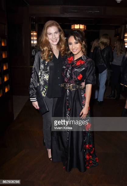 Entertainment Director at ELLE Magazine Jennifer Weisel and Francia Raisa attend The ELLE Super Bowl Presented by AG on October 13 2017 in Los...