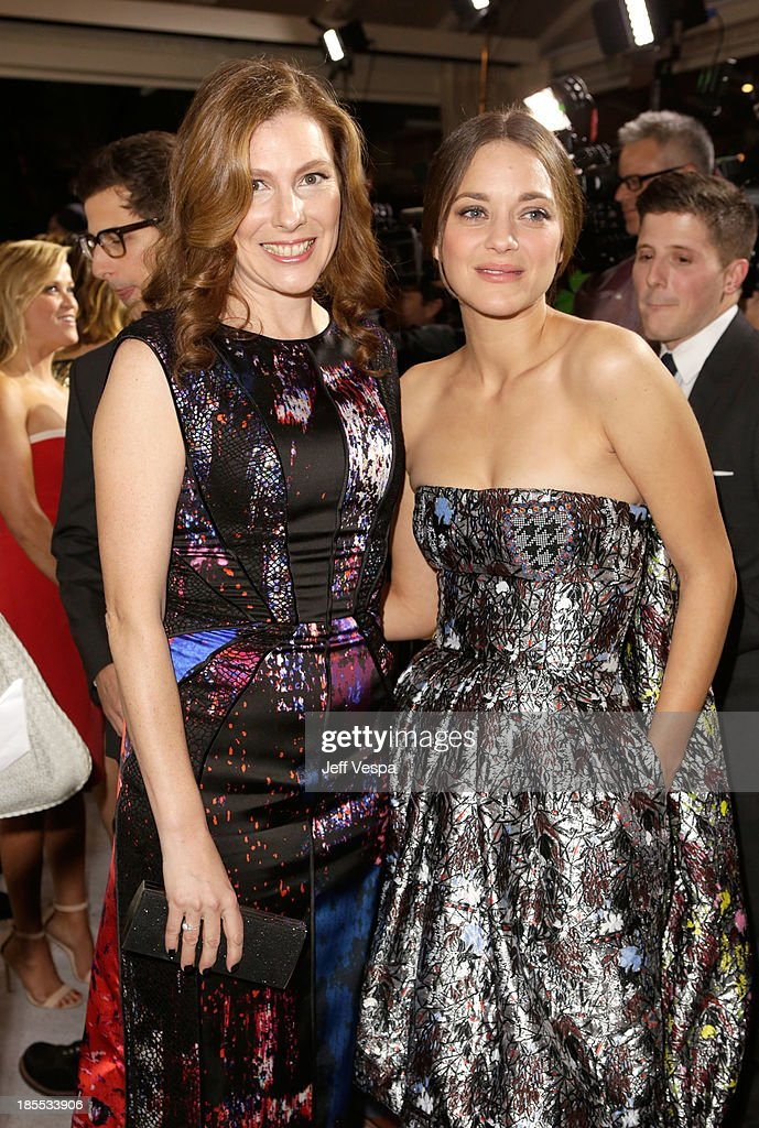 Entertainment Director Jenny Mizell and honoree Marion Cotillard attend ELLE's 20th Annual Women In Hollywood Celebration at Four Seasons Hotel Los Angeles at Beverly Hills on October 21, 2013 in Beverly Hills, California.