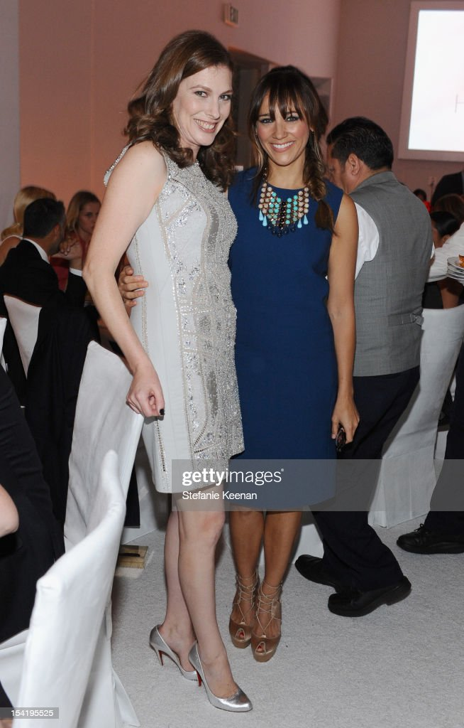 Entertainment Director of Elle, Jennifer Weisel and actress <a gi-track='captionPersonalityLinkClicked' href=/galleries/search?phrase=Rashida+Jones&family=editorial&specificpeople=2133481 ng-click='$event.stopPropagation()'>Rashida Jones</a> attends ELLE's 19th Annual Women In Hollywood Celebration at the Four Seasons Hotel on October 15, 2012 in Beverly Hills, California.