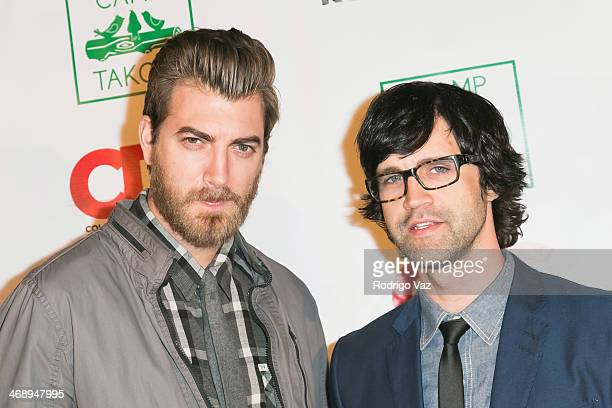 Entertainment duo Rhett and Link attend 'Camp Takota' Exclusive Sneak Peek Party at UCLA on February 11 2014 in Los Angeles California