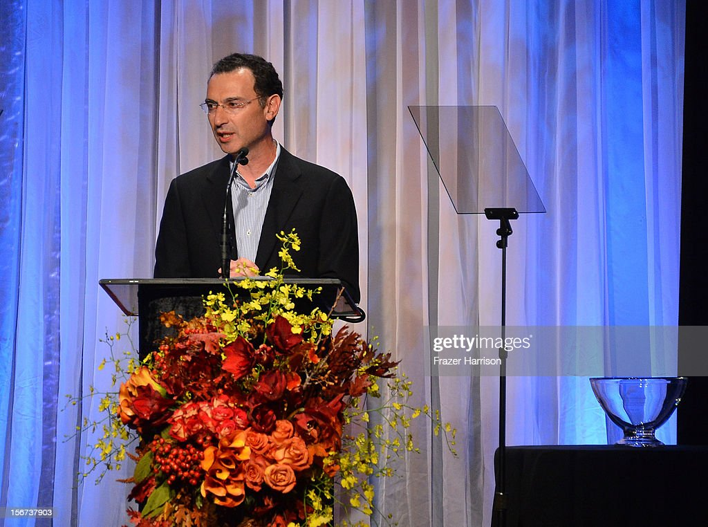 Entertainment Group President Paul Lee accepts his award at the The Saban Free Clinic's Gala Honoring ABC Entertainment Group President Paul Lee And Bob Broder at The Beverly Hilton Hotel on November 19, 2012 in Beverly Hills, California.