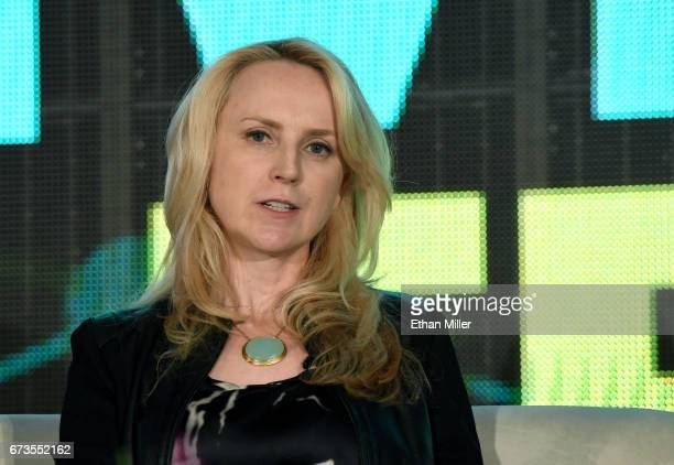 Entertainment Head of Development Virtual Reality Augmented Reality Bernadette McDaid speaks during the panel 'Reaching for the Stars Connecting to...
