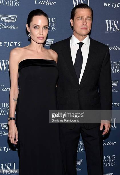 Entertainment Innovator Angelina Jolie Pitt and Brad Pitt attend the WSJ Magazine 2015 Innovator Awards at the Museum of Modern Art on November 4...
