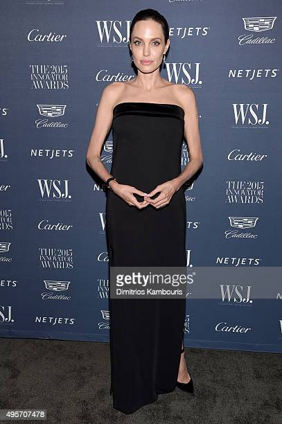 Entertainment Innovator Angelina Jolie Pitt attends the WSJ Magazine 2015 Innovator Awards at the Museum of Modern Art on November 4 2015 in New York...
