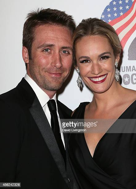 TV entertainment journalist Ashlan Gorse and husband Philippe Cousteau Jr attend the 4th Annual American Humane Association Hero Dog Awards at The...